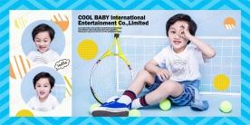 2019-06-26 【儿童模板】GEI1195_网球少年 - GEI1195 (8P)